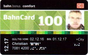 Bahncard 100 der deutschen Bahn